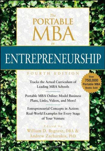 Portable MBA in Entrepreneurship  4th 2010 edition cover