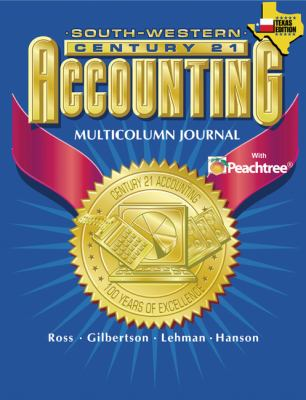 Century 21 Accounting for Texas Multicolumn Journal Approach   2004 9780538437318 Front Cover