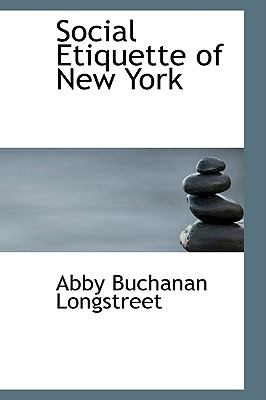 Social Etiquette of New York:   2008 edition cover