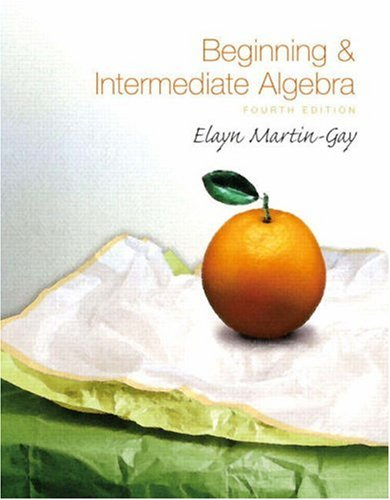 Beginning and Intermediate Algebra  4th 2009 edition cover