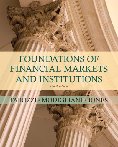 Foundations of Financial Markets and Institutions  4th 2010 edition cover