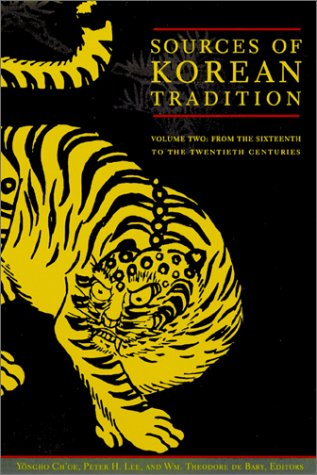Sources of Korean Tradition From the Sixteenth to the Twentieth Centuries  1997 edition cover