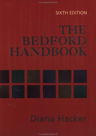 Bedford Handbook 6th 2002 edition cover
