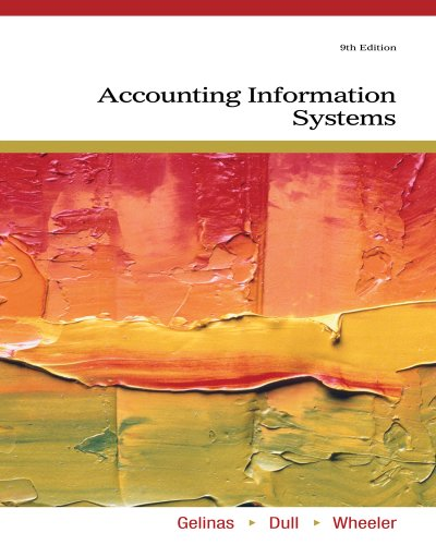 Accounting Information Systems  9th 2012 edition cover