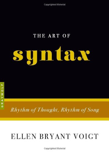Art of Syntax Rhythm of Thought, Rhythm of Song  2009 edition cover