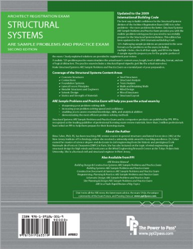 Structural Systems: ARE Sample Problems and Practice Exam  2nd 2011 edition cover
