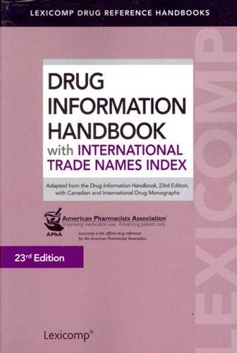 Drug Information Handbook With International Trade Names Index:   2014 edition cover