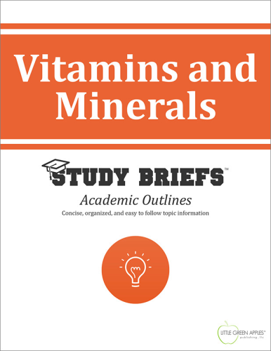 Vitamins and Minerals   2015 9781634261319 Front Cover
