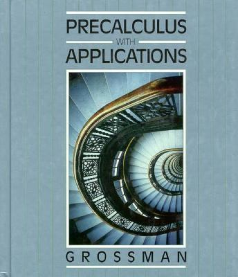 Precalculus with Applications 1990   1992 9780030970320 Front Cover