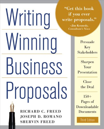 Writing Winning Business Proposals  3rd 2011 edition cover