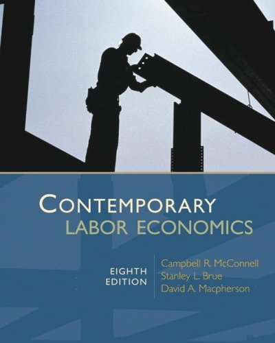 Contemporary Labor Economics  8th 2008 edition cover