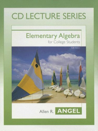 ELEMENTARY.ALG.F/COLL..-CD LEC 6th 2004 edition cover