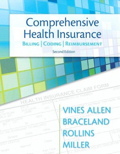 Comprehensive Health Insurance Billing - Coding - Reimbursement 2nd 2013 edition cover