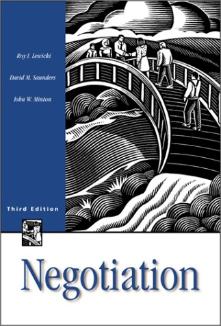 Negotiation Readings, Cases and Exercises 3rd 1999 (Revised) 9780256208320 Front Cover