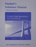 Student Solutions Manual for Finite Mathematics with Applications in the Management, Natural and Social Sciences  11th 2015 edition cover