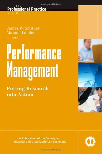 Performance Management Putting Research into Action  2009 9780470192320 Front Cover