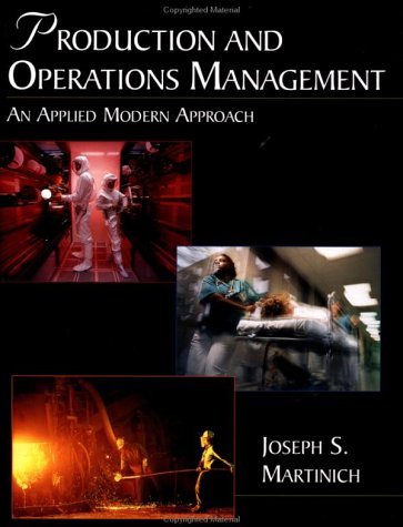 Production and Operations Management An Applied Modern Approach  1997 9780471546320 Front Cover