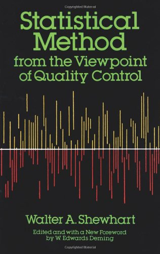 Statistical Method from the Viewpoint of Quality Control  Reprint edition cover