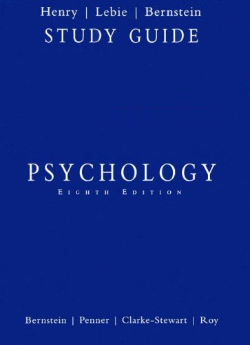 Psychology  8th 2008 (Student Manual, Study Guide, etc.) 9780547016320 Front Cover