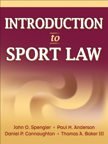 Introduction to Sport Law   2009 edition cover