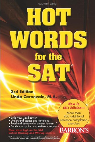 Hot Words for the SAT  3rd 2007 (Revised) edition cover
