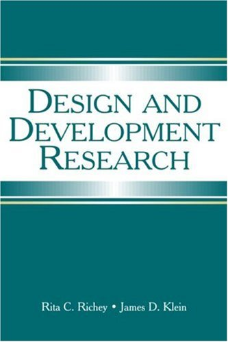 Design and Development Research Methods, Strategies, and Issues  2007 edition cover