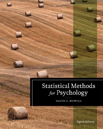 Student Solutions Manual for Howell's Statistical Methods for Psychology, 8th  8th 2013 edition cover