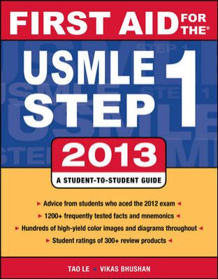 First Aid for the USMLE Step 1 2013  23rd 2013 edition cover