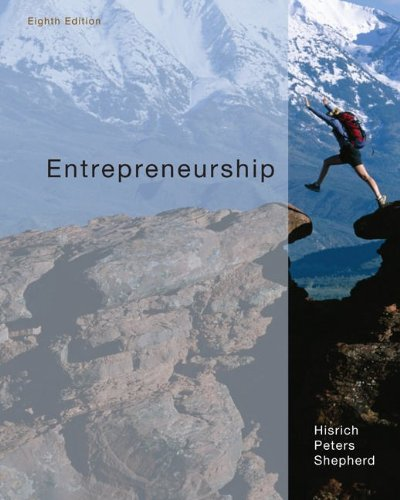 Entrepreneurship  8th 2010 edition cover