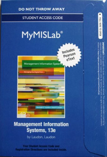 Management Information Systems  13th 2014 9780133058321 Front Cover