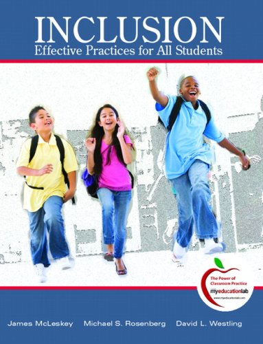 Inclusion Highly Effective Practices for All Students  2010 9780136101321 Front Cover