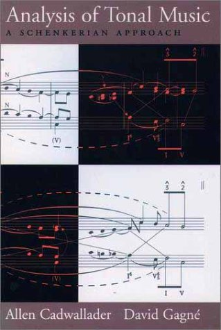 Analysis of Tonal Music A Schenkerian Approach  1998 edition cover