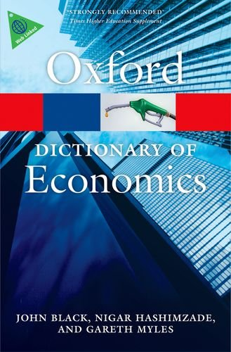 Dictionary of Economics  4th 2012 edition cover
