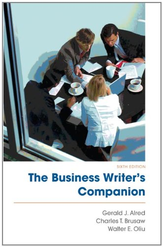 Business Writer's Companion  6th 2011 edition cover