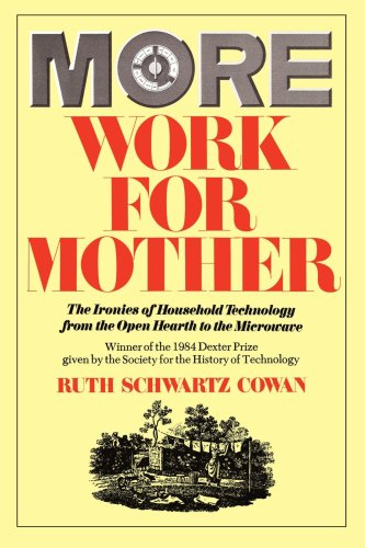More Work for Mother The Ironies of Household Technology from the Open Hearth to the Microwave  1983 edition cover
