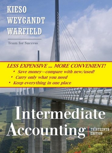 Intermediate Accounting, 13th Edition Binder Ready Version N/A 9780470418321 Front Cover