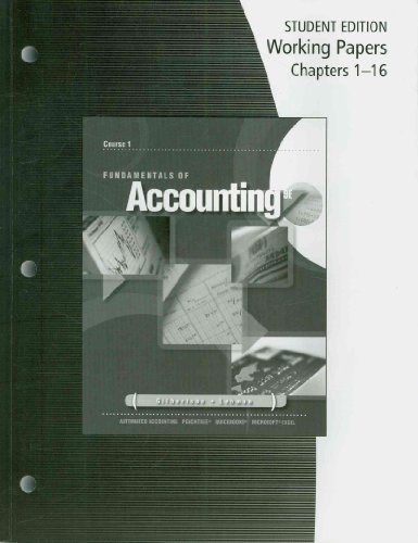 Fundamentals of Accounting  9th 2009 edition cover