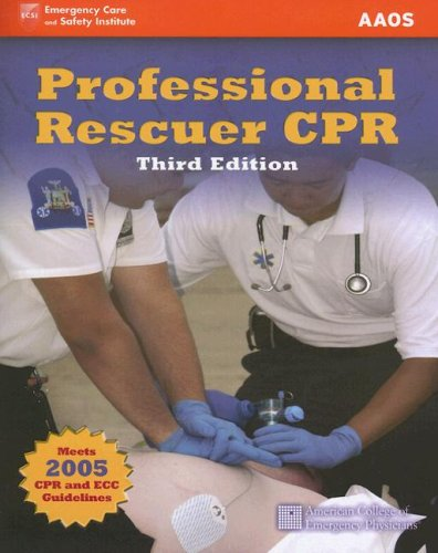 Professional Rescuer CPR 3rd 2007 (Revised) edition cover
