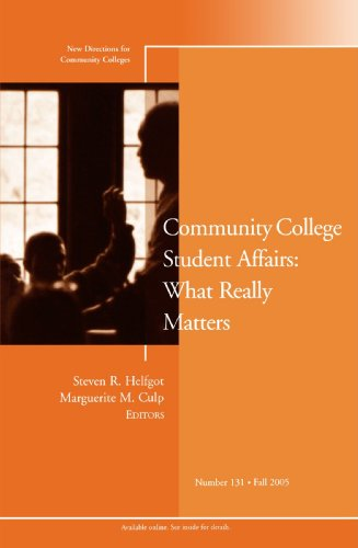 Community College Student Affair - What Really Matters New Directions for Community Colleges  2005 edition cover