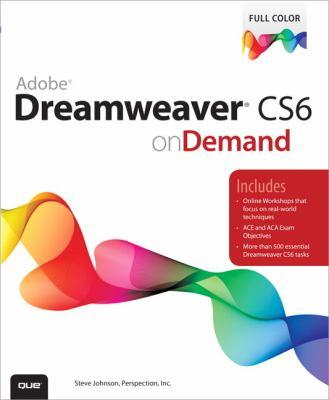 Adobe Dreamweaver CS6 on Demand  2nd 2012 (Revised) edition cover