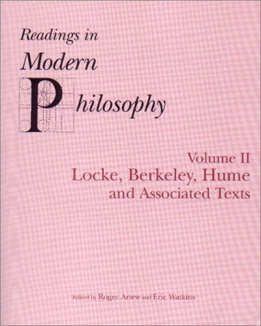 Readings in Modern Philosophy Locke, Berkeley, Hume and Associated Texts  2000 edition cover