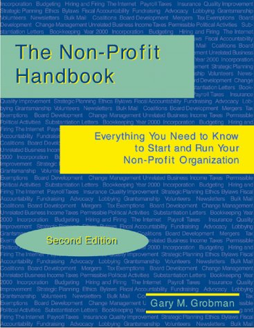 Nonprofit Handbook 2nd 1999 9780965365321 Front Cover