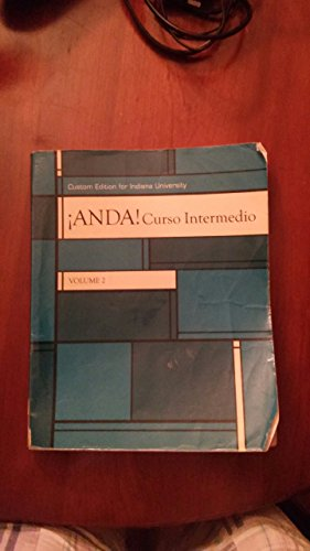 ANDA! CURSO INTERMEDIO,VOL.2 >CUSTOM<   N/A 9781269138321 Front Cover