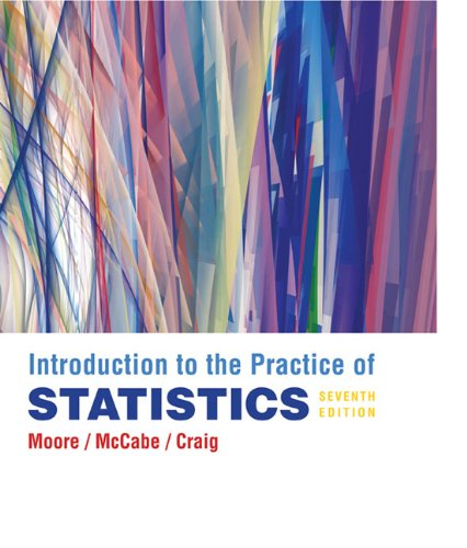 Introduction to the Practice of Statistics  7th 2011 (Revised) 9781429240321 Front Cover