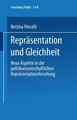 Repr�sentation und Gleichheit   2001 9783810033321 Front Cover