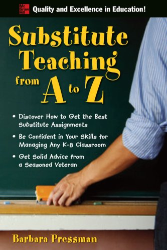 Substitute Teaching from a to Z   2008 9780071496322 Front Cover