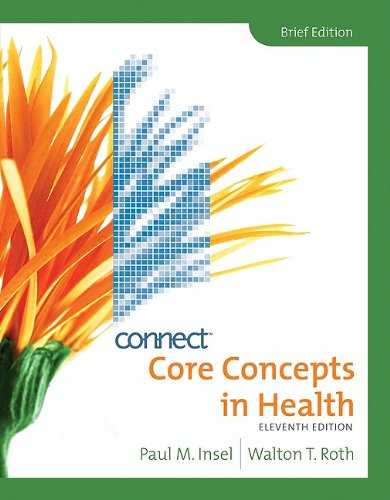 Core Concepts in Health, Brief with Connect Plus Personal Health Access Card  11th 2010 edition cover