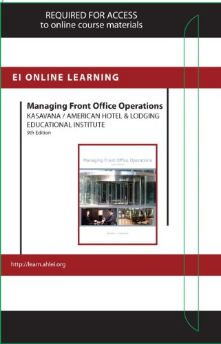 Managing Front Office Operations With Answer Sheet Access Card:   2013 9780133431322 Front Cover