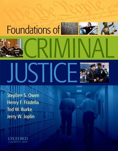 Foundations of Criminal Justice   2012 edition cover