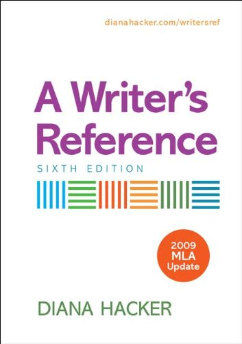 Writer's Reference with 2009 MLA Update  6th 2009 edition cover
